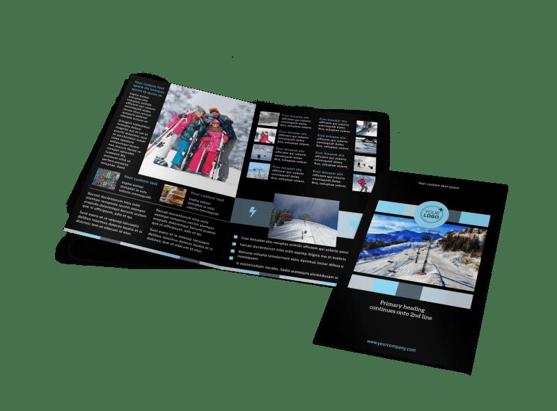 Top Ski Resort Brochure Template Preview 1