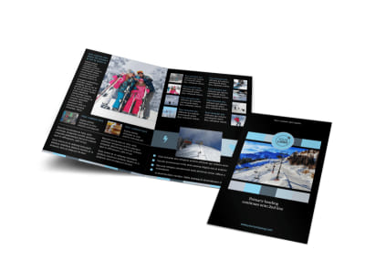 Top Ski Resort Bi-Fold Brochure Template
