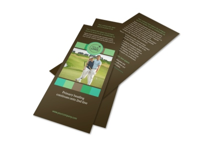 Golf Tournament Flyer Template 2