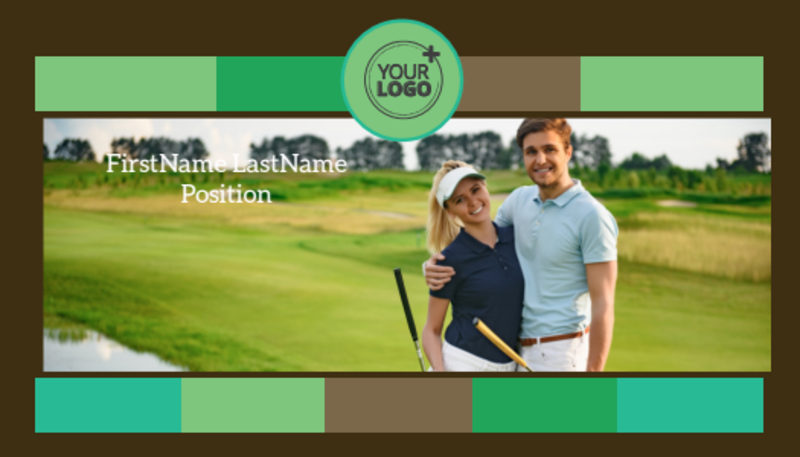 Golf Tournament Business Card Template Preview 2