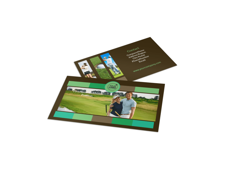 Golf Tournament Business Card Template Preview 1
