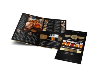 Brew Pub Bi-Fold Brochure Template