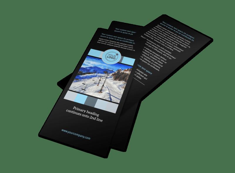 Top Ski Resort Flyer Template Preview 1