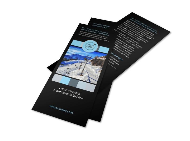 Top Ski Resort Flyer Template Preview 4