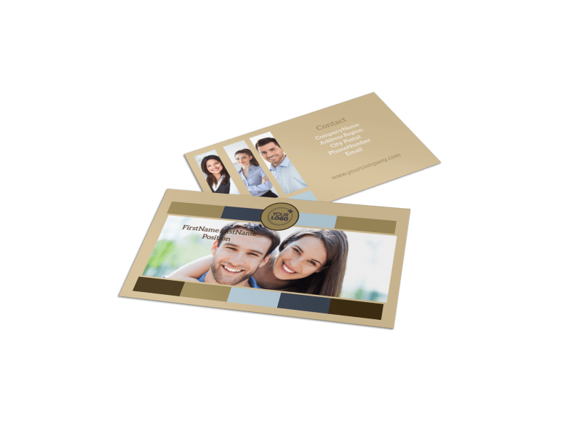 Marriage Counseling Business Card Template Preview 1