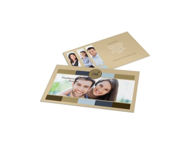 Marriage Counseling Business Card Template preview