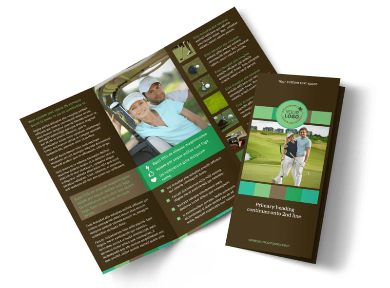 Golf Tournament Brochure Template | Mycreativeshop