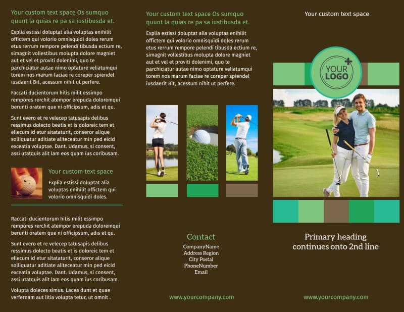 Golf Tournament Brochure Template Preview 2