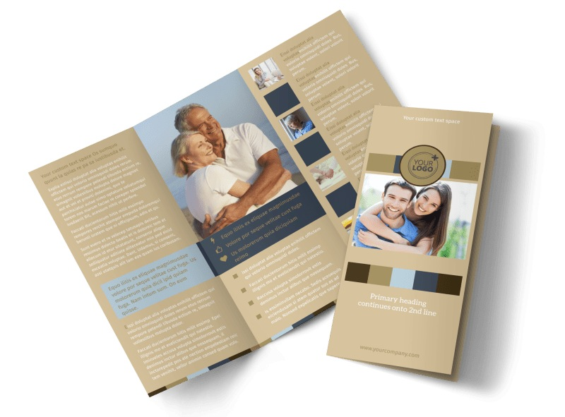 Marriage Counseling Tri-Fold Brochure Template