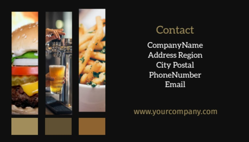 Brew Pub Business Card Template Preview 3