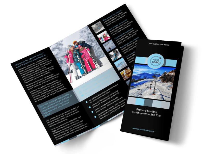 Top Ski Resort Brochure Template Preview 4