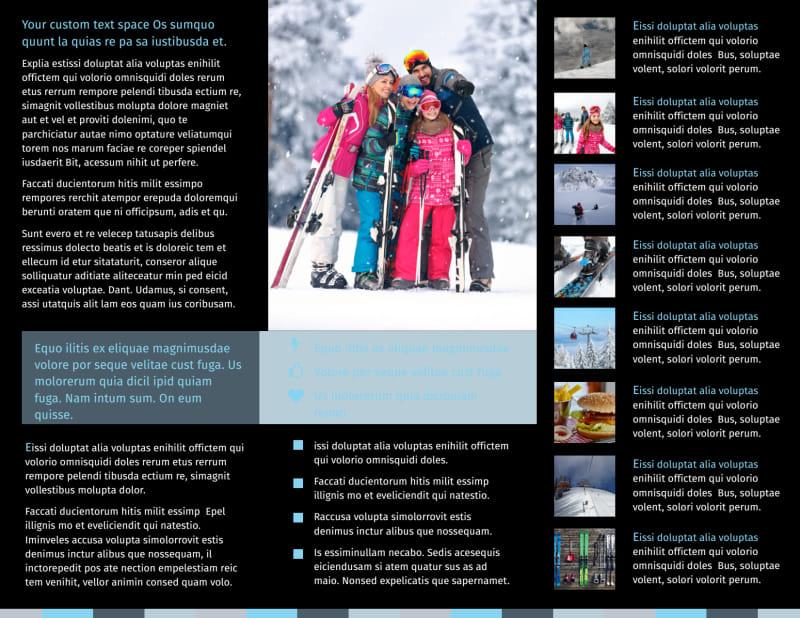 Top Ski Resort Brochure Template Preview 3