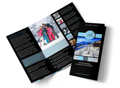 Top Ski Resort Tri-Fold Brochure Template