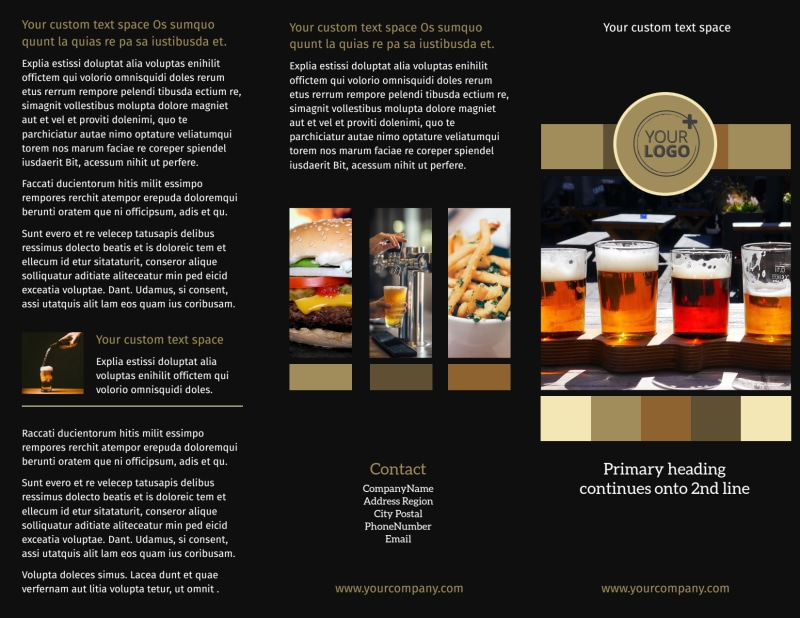 Brew Pub Brochure Template Preview 2