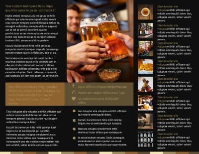 Brew Pub Brochure Template Preview 2