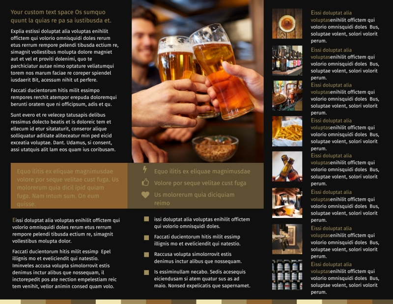 Brew Pub Brochure Template Preview 3
