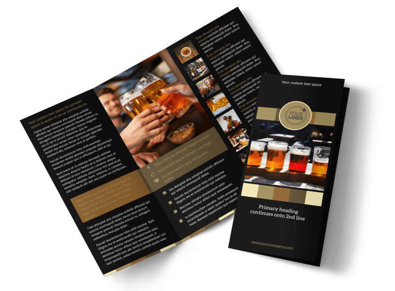 Brew Pub Brochure Template Preview 1