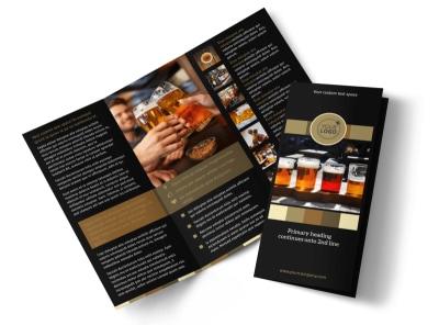 Brew Pub Tri-Fold Brochure Template