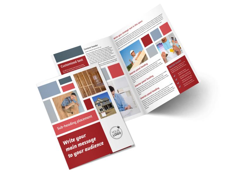 Home Remodeling Bi-Fold Brochure Template 2