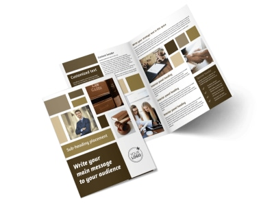 Lawyer Law firm Bi-Fold Brochure Template 2