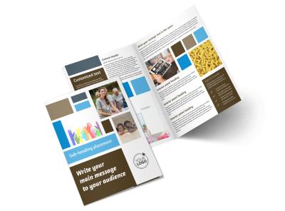 Food Pantry Bi-Fold Brochure Template 2