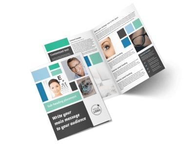 Laser Vision Bi-Fold Brochure Template 2