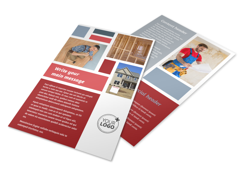 Home Remodeling Flyer Template 3