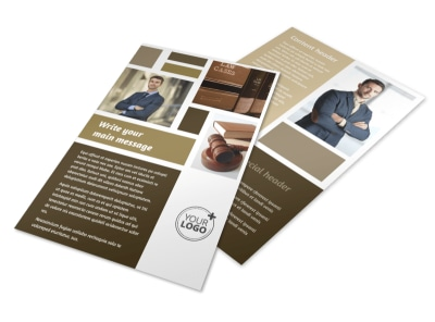 Lawyer Law firm Flyer Template 3