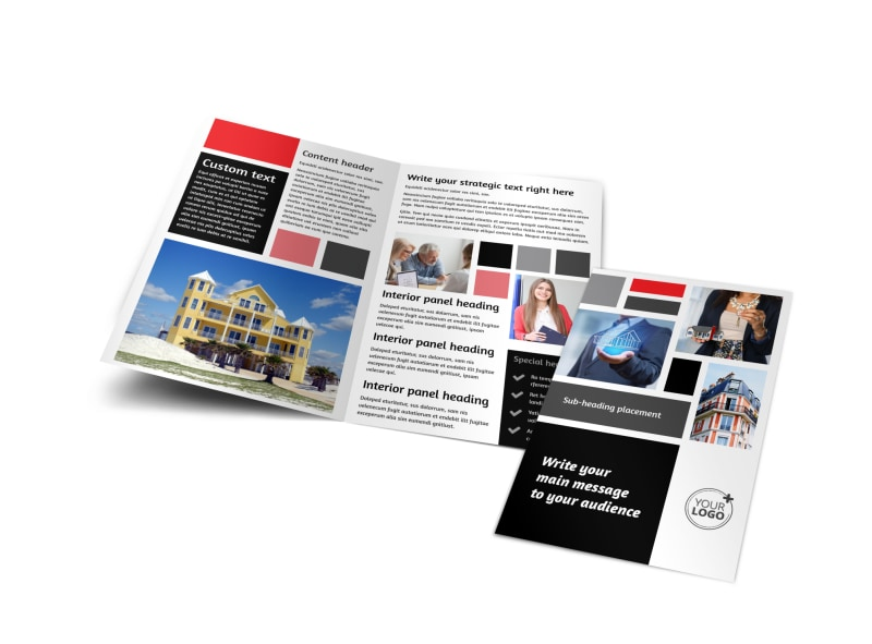 Apartment living bi fold brochure template for Managed services brochure template