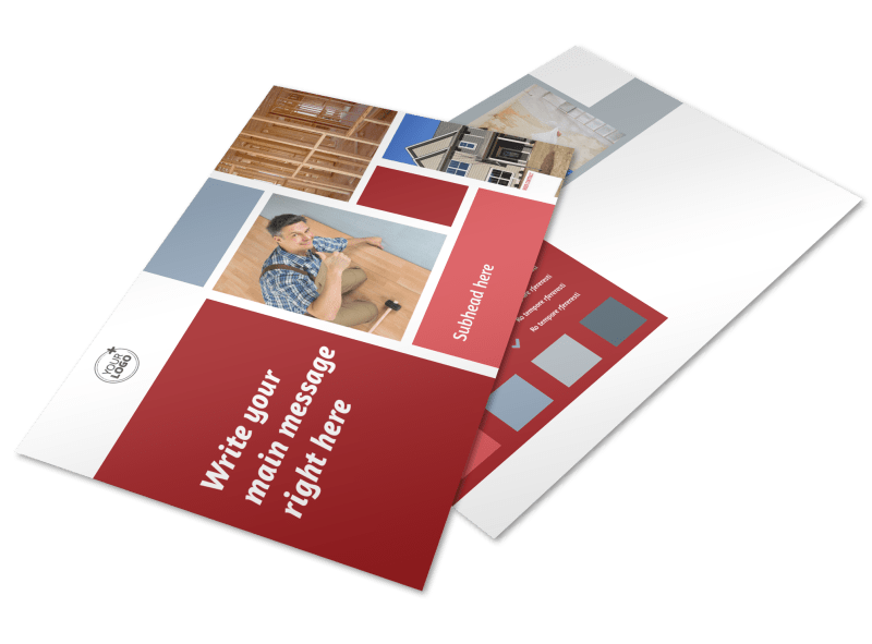 Remodeling Contractor Postcard Template Preview 1