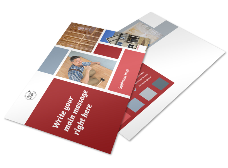 Home Remodeling Postcard Template