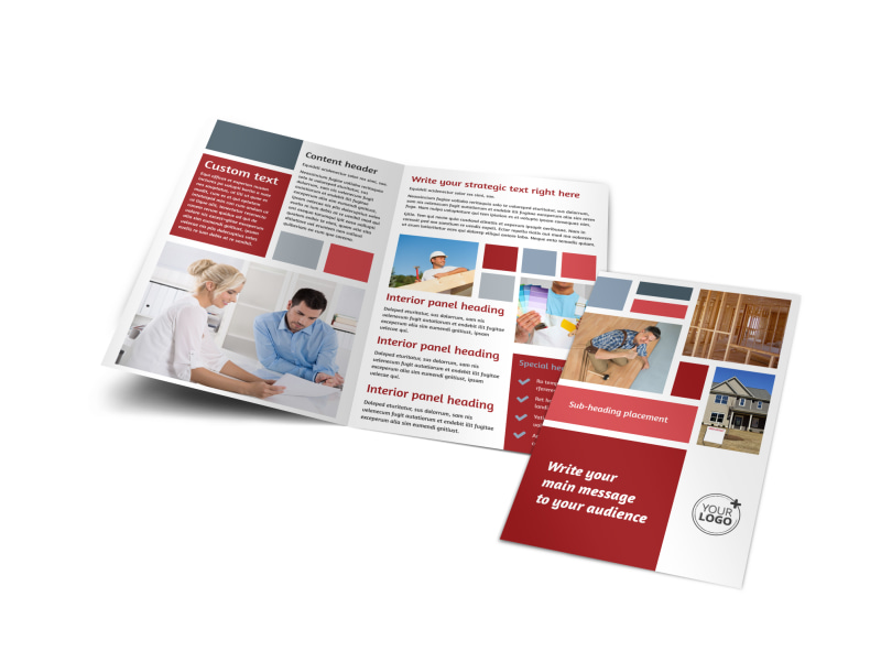 Home Remodeling Bi-Fold Brochure Template