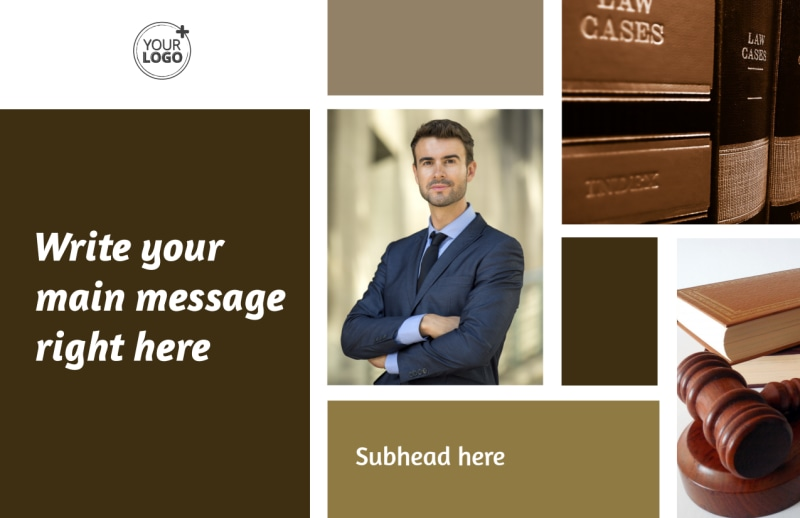 Lawyer Law firm Postcard Template Preview 2