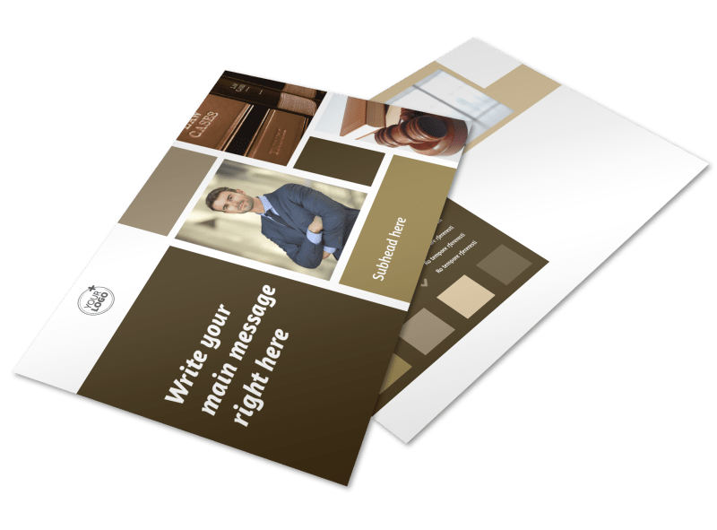 Lawyer Law firm Postcard Template Preview 1