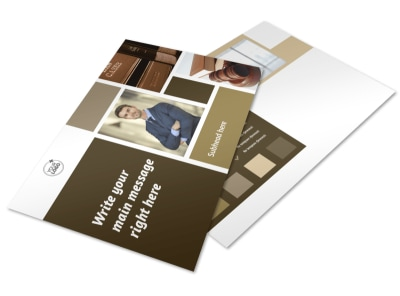 Lawyer Law firm Postcard Template preview