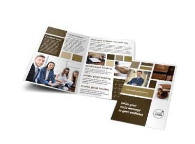 Lawyer Law firm Bi-Fold Brochure Template preview