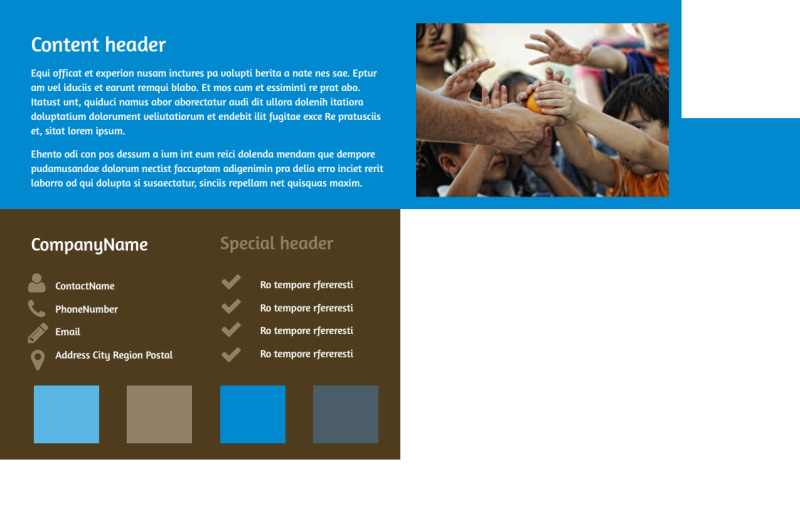 Food Pantry Postcard Template Preview 3