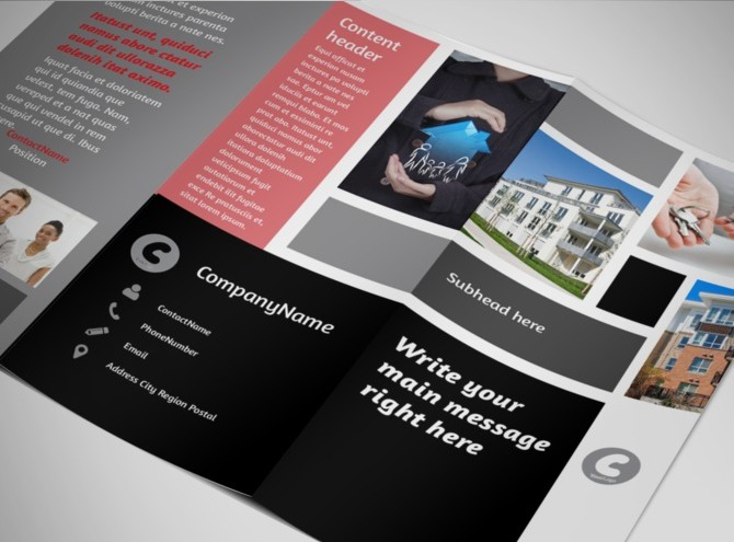 managed services brochure template - apartment living tri fold brochure template