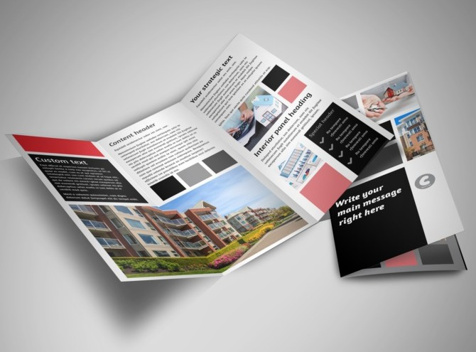 Apartment living tri fold brochure template for Apartment brochure templates