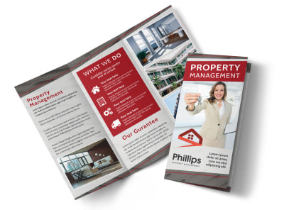 Full Service Property Management Tri-Fold Brochure Template preview