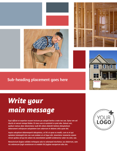 Remodeling Contractor Flyer Template Preview 1