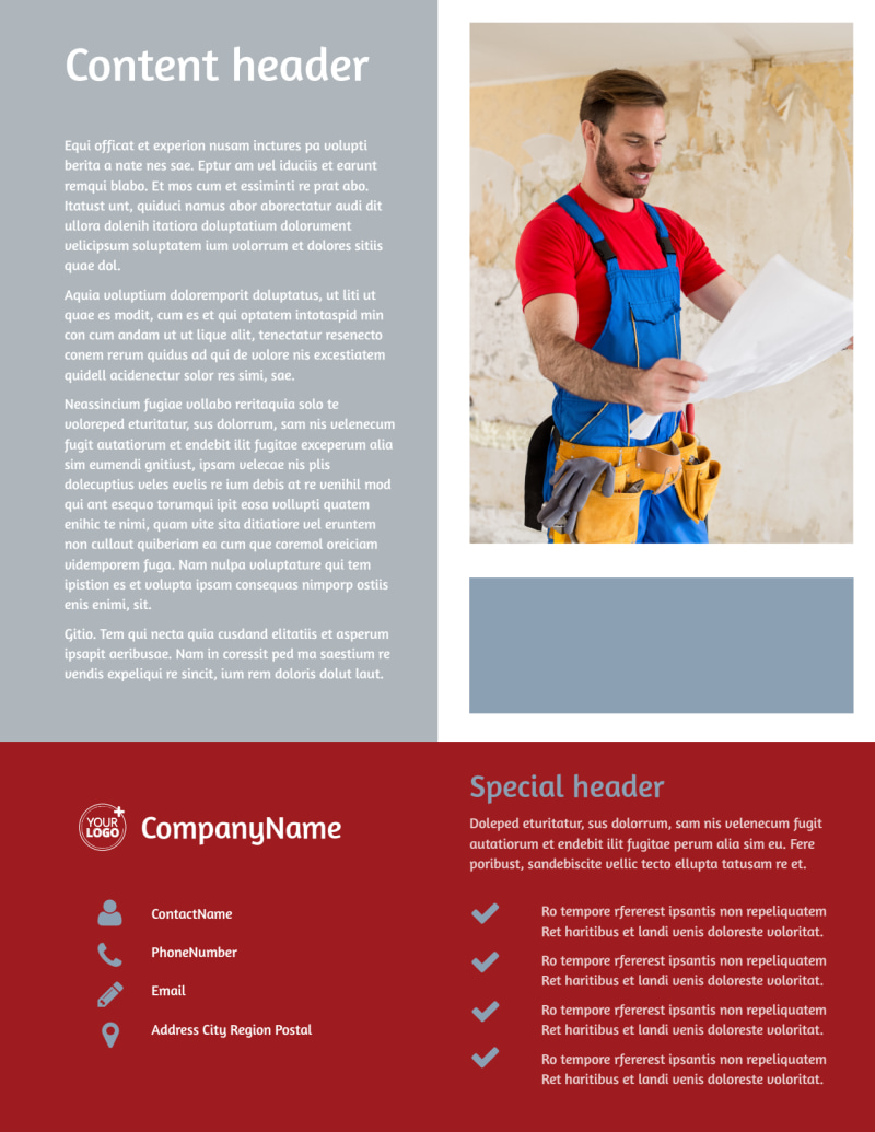 Remodeling Contractor Flyer Template Preview 3
