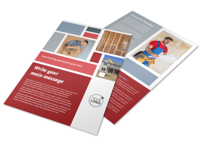 Home Remodeling Flyer Template preview