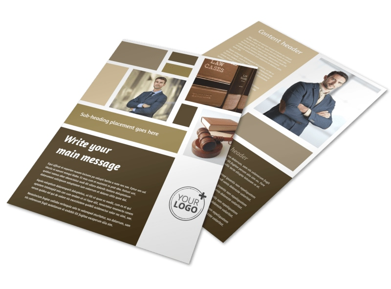 Lawyer law firm flyer template mycreativeshop for Legal brochure template