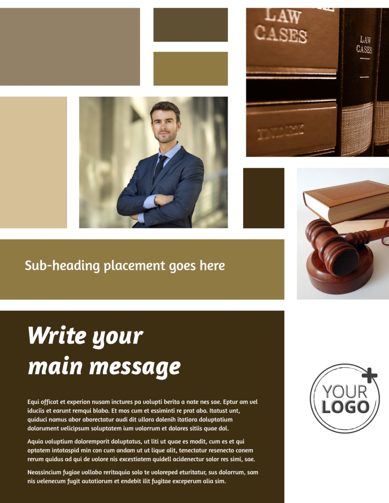 Lawyer Law firm Flyer Template Preview 2