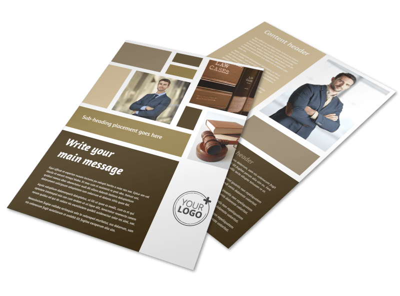 Lawyer Law firm Flyer Template Preview 1