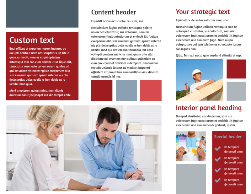 Remodeling Contractor Brochure Template Preview 3