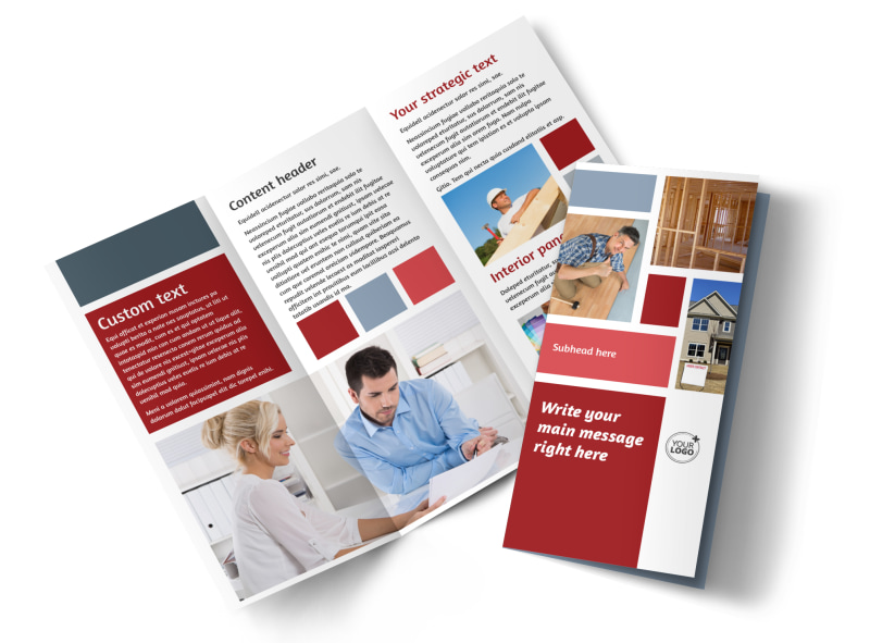 Remodeling Contractor Brochure Template Mycreativeshop