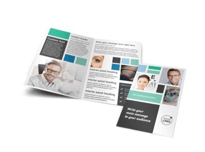 Laser Vision Bi-Fold Brochure Template