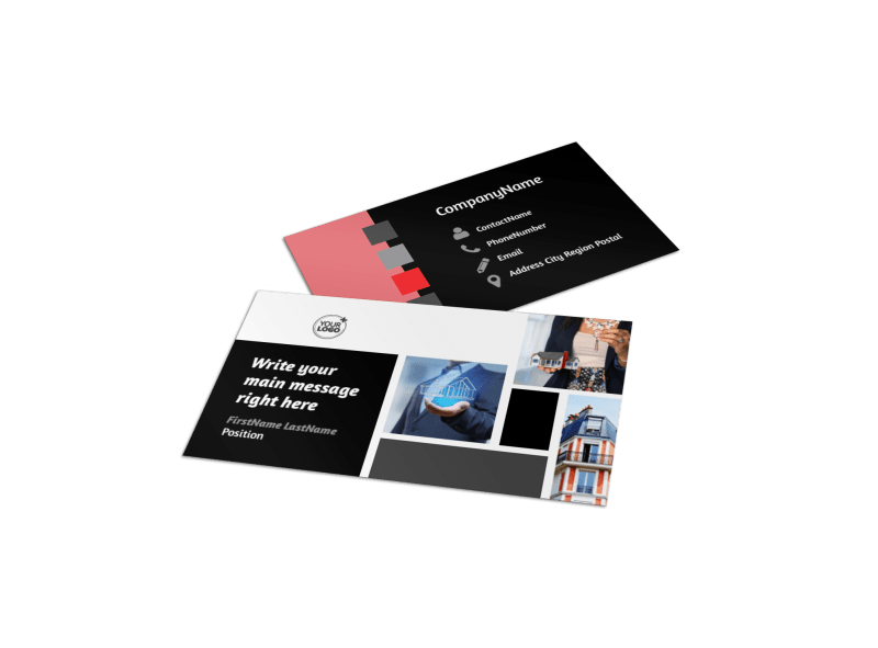 Full Service Property Management Business Card Template Preview 1